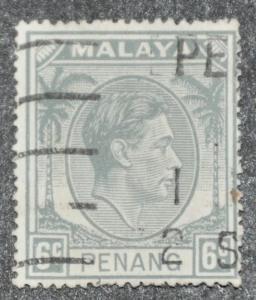 DYNAMITE Stamps: Malaya Penang Scott #8 – USED