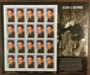 3329   James Cagney, Legend of Hollywood. MNH. 33 cent sheet of 20. Issued 1999.