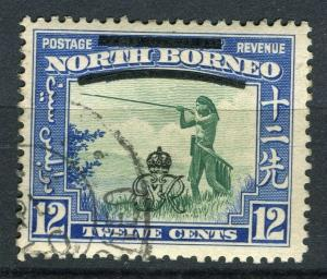 NORTH BORNEO; 1947 Crown Colony issue fine used 12c. value + Postal cancel