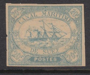 EGYPT SUEZ CANAL 1860s local - an old forgery of this classic issue.........D400