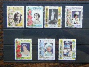 Barbuda 1985 85th Birthday of Queen Elizabeth the Queen Mother set MNH