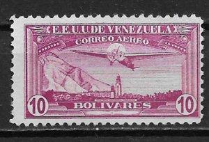 1937 Venezuela C62 Pantheon at Caracas 10b unused/no gum