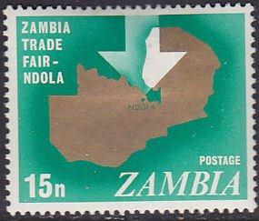 Zambia 51 Map of Zambia 1968