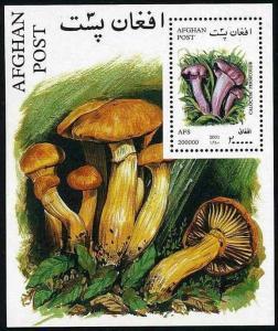 Afghanistan MNH S/S MI 120 Mushrooms Fungi 2001