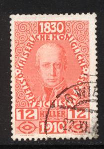 Austria 1910  Scott #134 used (CV 12.00)