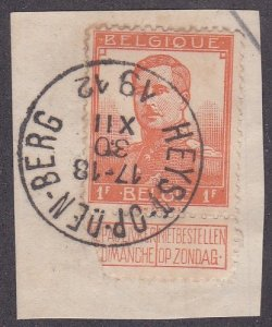 Belgium # 100, King Albert With Label on paper, Used