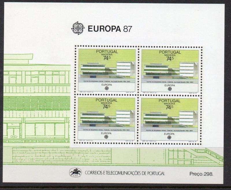Portugal Madeira 1987 Modern Architecture Europa SS VF MNH (119a)