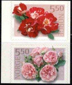 Norway Scott 1303-1304,  2001 self Adhesive Flower set