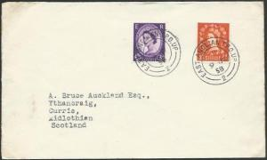 GB 1958 cover EAST ANGLIAN TPO UP railway cancel...........................53355