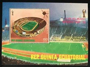Equatorial Guinea #MiBl263 MNH S/S CV€5.50 Copa de Futbol FIFA