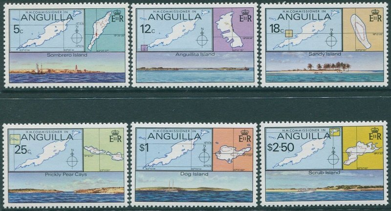 Anguilla 1979 SG372-377 Outer Islands set MNH