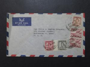 Iraq 1954 Airmail Cover to USA / Light Crease - Z8526