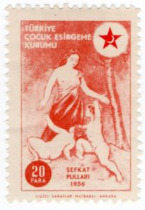 (I.B) Turkey Cinderella : Red Crescent Fund 20pi (1956)