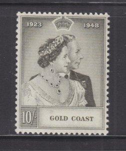 GOLD COAST, 1948 Silver Wedding 10s., mnh.