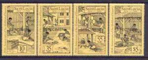 St Lucia 1984 Abolition of Slavery set of 4 opt'd SPECIME...