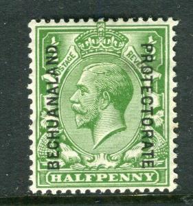 BECHUANALAND; 1925 early GV issue fine Mint hinged Shade of 1/2d. value