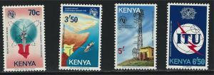 Kenya SC234-237 ITU Conference-MicroWaveRadioSyst.-RuralTelecom.Emblem MNH 1982