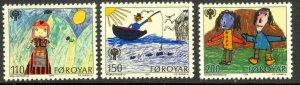 FAROE ISLANDS 1979 International Year of the Child Set Sc 45-47 MNH