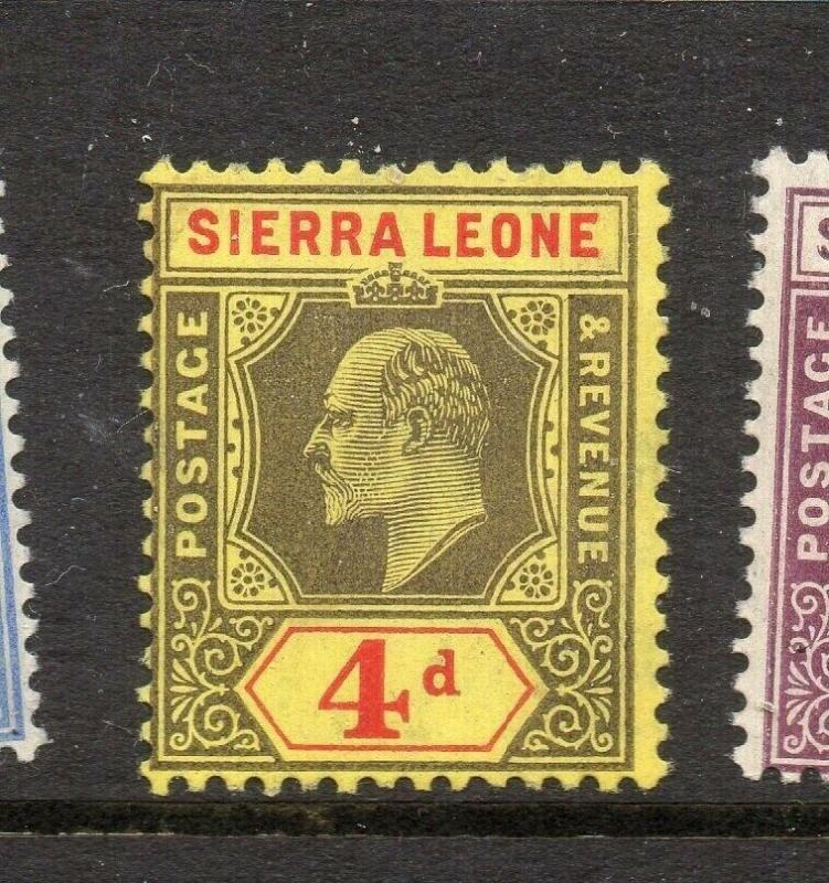 Sierra Leone 1907-10 Early Issue Fine Mint Hinged 4d. 303549