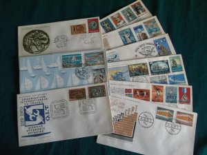 Greece 1969 year set official FDC's.