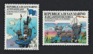 San Marino Europa Tourism 2v 2004 MNH SG#1983-1984