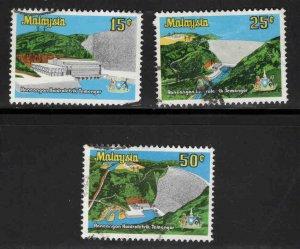 Malaysia Scott 198-200 Used Temengor Dam set