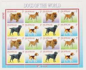Philippines 2010 domestic animals dogs klb of 16v  MNH