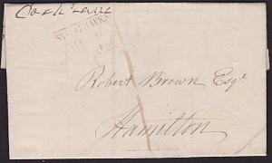 GB SCOTLAND 1844 cover STRATHAVEN to Hamilton Mss 1 UPP in red..............6789