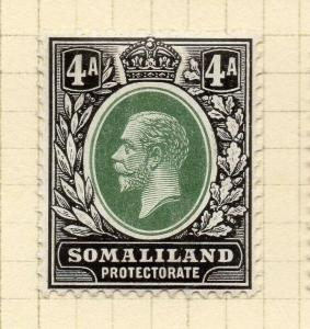 Somaliland Protectorate 1912 Early Issue Fine Mint Hinged 4a. 297821