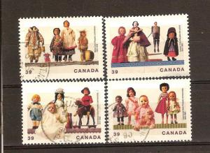 CANADIAN SET ON DOLLS USED STAMPS  LOT#66