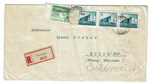 Hungary 1958 Registered Cover to Austria - Z300