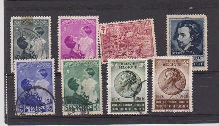 BELGIUM STAMPS USED (8)  LOT#191