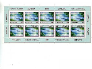 Lativia  2001  Europa mini sheet   Mint VF NH