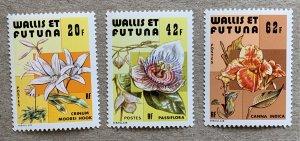 Wallis and Futuna 1979 Flowers, MNH.  Scott 235-237, CV $4.95