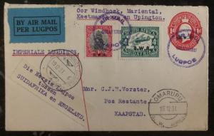 1931 Omaruru South West Africa First Flight Cover FFC To Capetown Imperial Airwa