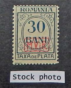 Romania 3NJ6. 1918 30b Postage Due, NH
