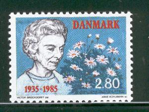 DENMARK 775 ARRIVAL OF QUEEN INGRID 1985