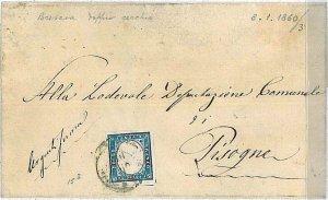 SARDEGNA - Sassone 15B su BUSTA : BRESCIA a PISOGNE 1860