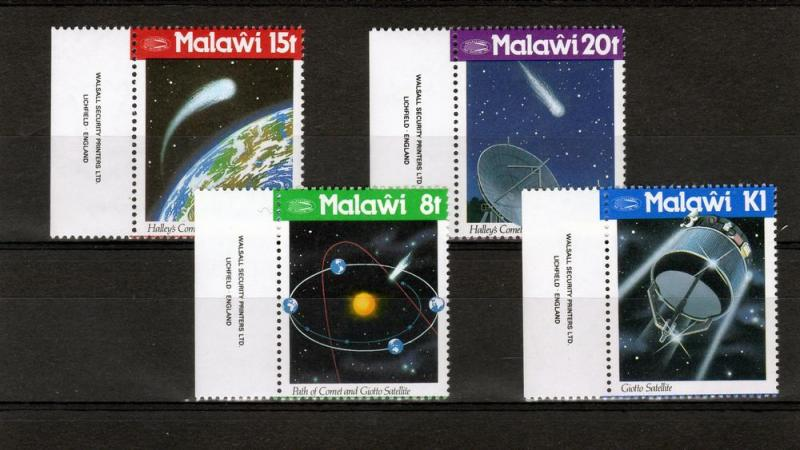 MALAWI 1986 - Scott# 478-81 Halley's  Comet Set (4) MNH VF
