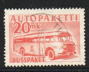 Finland Sc Q7 1952 20mk orange Postal Bus stamp used