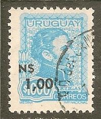 Uruguay    Scott 932   Surcharge   Used