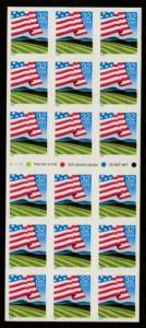 U.S. Scott #2919a U.S. Flag Booklet Pane - Plate #V1111