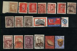 Argentina  19 different Mint & used PD