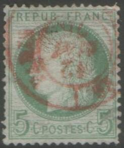 France 5 c green SG191  fine used