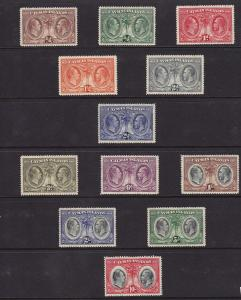 Cayman Islands Scott # 69 - 80 set VF OG mint light hinged cv $ 580 ! see pic !