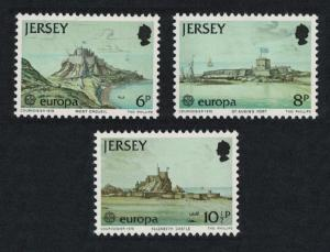 Jersey Europa CEPT 1978 Monuments Castles Paintings 3v SG#187-189