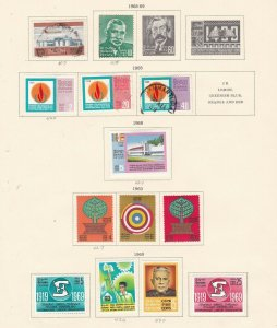 CEYLON ^^^^1968-69   hinged SETS  on  page  $$@ dccc114xxbcey