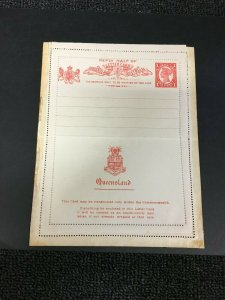 Q22) Queensland Postal Stationery 1912 Reply Card
