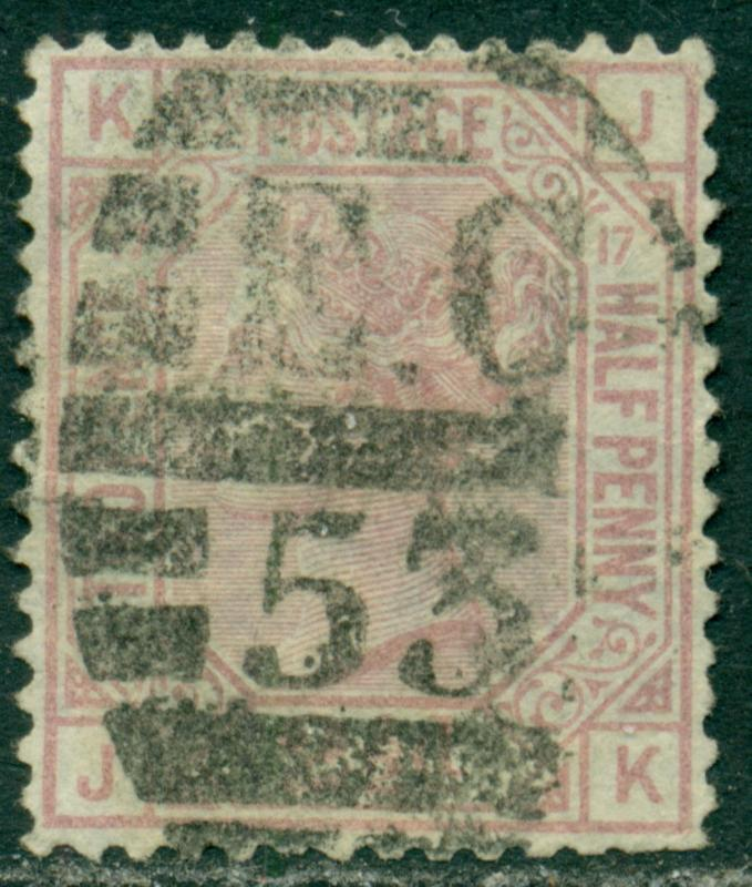 GREAT BRITAIN SG-141, SCOTT # 67 USED, PLATE # 17 , VERY FINE, GREAT PRICE!
