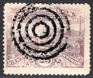 Costa Rica , RH12a, H7a, 25c, p.14. yellow-brown, ERROR, Telegrafos / Telegraph